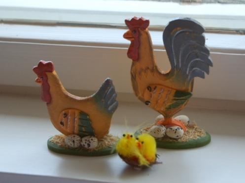 Påsk_Höna_tupp_och_kycklingar